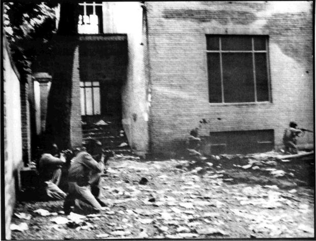 The Shah's troops at the looting of Dr. Mossadegh's house, August 19th, 1953